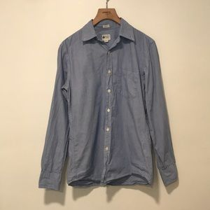 J. CREW - TAILORED FIT SHIRT IN BLUE STRIPES
